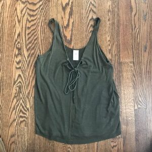 Free people/We the free olive tank top sz xs